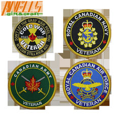 Military Flag Velcro Backing Iron On Embroidery Patch